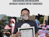 Gambar sampul Adib Budiono dan Inovasi Masker Tunarungu