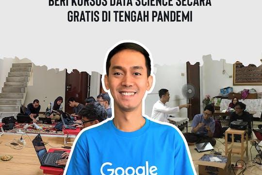 Gambar sampul Arief Rama, Ajarkan Data Science Secara Gratis di Tengah Pandemi
