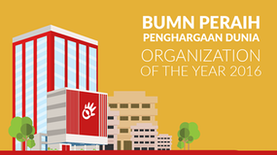 "BUMN Peraih Penghargaan Dunia ""Organization of The Year 2016"""