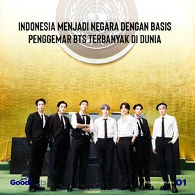 Gambar sampul Indonesia Menjadi Negara dengan Basis Penggemar BTS Terbanyak di Dunia