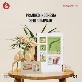 Gambar sampul Jajaran Perangko Indonesia Edisi Olimpiade