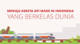 Kereta Api Made in Indonesia Berkelas Dunia