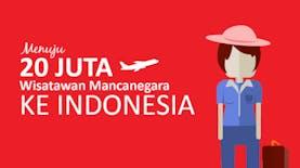 Menuju 20 Juta Wisatawan Mancanegara ke Indonesia