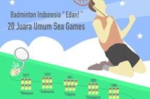 """Tim Bulu Tangkis Indonesia """"Edan""""! 20 Kali Juara Umum Sea Games"""
