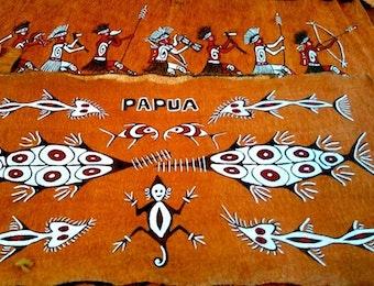 Lukisan Kulit Kayu Otentik Nan Indah Masyarakat Asei