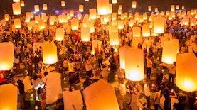 Syahdunya Tahun Baru di Candi Borobudur dengan 2.500 Lampion