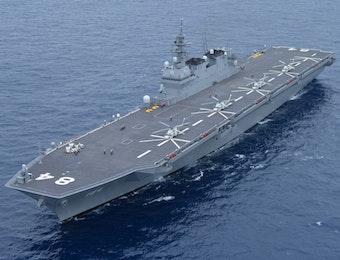 Kapal Perang Terbesar Jepang Tiba di Indonesia