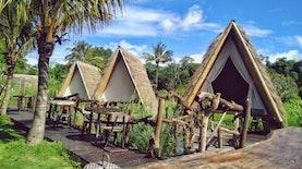 Menikmati Danau Batur Bergaya Kemping Indian di Njung