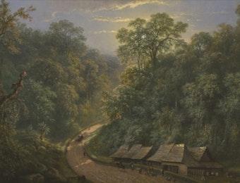 Makna Dari Lukisan Raden Saleh 'Mail Station at the Bottom of Mount Megamendung'
