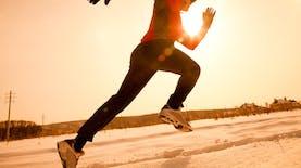 Aksi Lari Marathon Untuk Menyambut Perayaan Tahun Baru