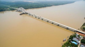 Dibangun Sejak 2012, Jembatan Terpanjang di Kalimantan ini bisa Tahan Hingga 100 Tahun