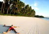 365Indonesia Day 33 - Laying Down on White Sand of Ngurbloat Beach