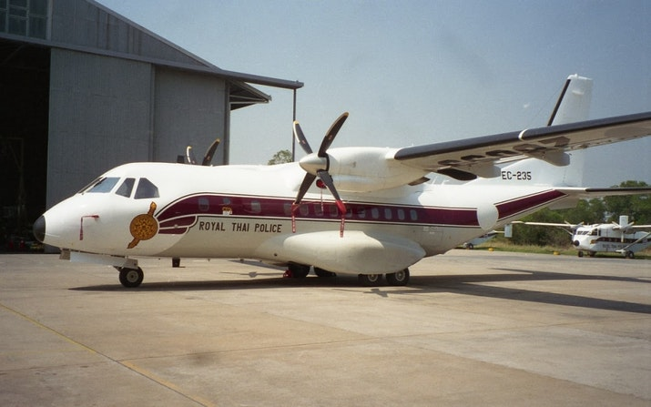 Pesawat CN235-220M Buatan Indonesia Pesanan Polisi Thailand Dikirim