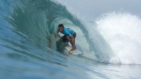 The Winner of Bali International Surfing Tournament