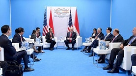 Inilah Isi Obrolan Singkat antara Jokowi dan Trump di KTT G20