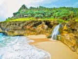 5 Air Terjun Indah yang Mengalir Langsung ke Laut