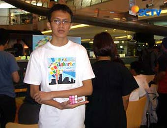 Indonesian Who Holds Rubik's World Record