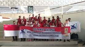 Indonesia Bawa Pulang 44 Emas dan Ranking 2 di ASEAN University Games 2018