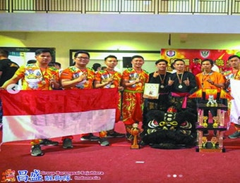 Grup Barongsai Indonesia Raih Juara 1 di Ajang Borneo Traditional Lion Dance Competition Malaysia 2019