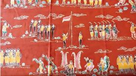 Batik Unik Bermotif Upacara Bendera untuk Merayakan Kemerdekaan RI ke-71