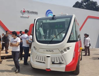 Bus Otonom Pertama di Indonesia, Gunakan Teknologi 5G