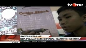 Dua Siswa SMK di Rembang Buat Kreasi Canting Elektrik