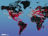 Persebaran Covid-19 di Dunia (Videografis persebaran Februari - Maret)