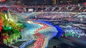 [Foto] Megahnya Pembukaan Asian Games 2018