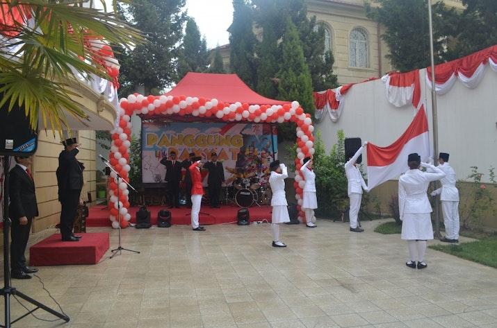 Intip Perayaan Hari Kemerdekaan RI di Baku