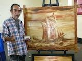 Mengenal Profesor Lukis ''Tanah dan Air'' dari Makassar