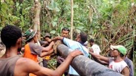Ekspedisi NKRI Bangun Pipa Air Untuk Masyarakat Sorong Selatan