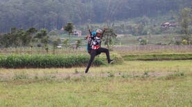 Emas Ke-7 untuk Indonesia di Sumbang Oleh Atlet Paralayang