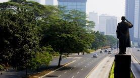 Foto-foto Jakarta yang 'Sepi' Ditinggal Pergi