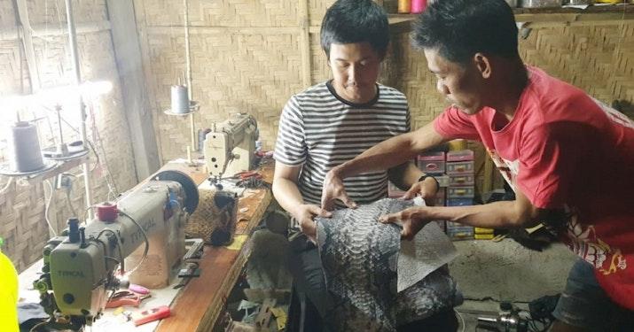 Gladiss Reptile, Karya Anak Bangsa yang Padukan Kombinasi Tiga Jenis Kulit