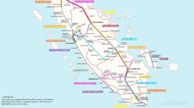 Beginilah Peta Jalur Kereta Trans-Sumatera