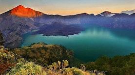 Gunung Rinjani Naik Status Jadi Taman Bumi Global
