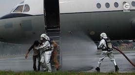 Detik-detik Penyelamatan Kecelakaan Pesawat di Bandara