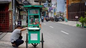 Ketika 'Abang Tukang Bakso' Sambut Presiden Indonesia