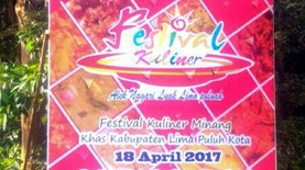 Digeber, Festival Sate Sumatera Barat dan Kuliner Limapuluh Kota