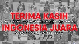 Selamat, Indonesia Raih Juara Umum Dalam ASEAN Para Games 2017!