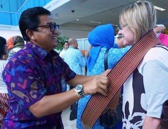 Begini Keramahan NTB Menyambut Wisatawan Pertama di Tahun 2018