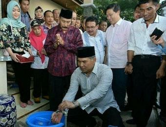 Walikota Jambi Launching Sambungan Air PDAM Tirta Mayang