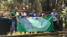 Dosen Universitas Brawijaya (UB) Mengaplikasikan Probiotik Pada Pembudidaya Ikan Nila di Kelurahan Buring, Malang
