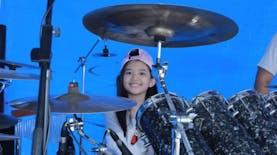 Pertama di Dunia, Drummer Anak Perempuan Bengkulu Pecahkan Rekor Bermain Drum Terlama