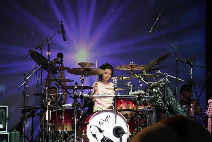 Aisya Soraya, Drummer Cilik yang Pecahkan Rekor Dunia