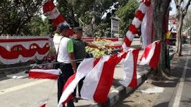 Dari Tukang Service, Beralih Penjual Bendera Merah Putih di Bulan Agustus