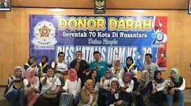 Peringati 70 Tahun UGM, Kagama Blitar Raya Gelar Donor Darah