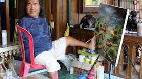 Ini Pelukis Tanpa Tangan yang Karyanya Sudah Mendunia