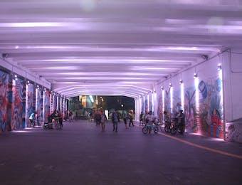 Keunikan Terowongan Seni di Tengah Kota Jakarta