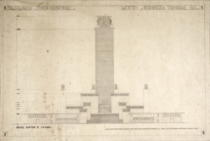 Gambar-gambar Sayembara Design Monumen Nasional 1953-1955